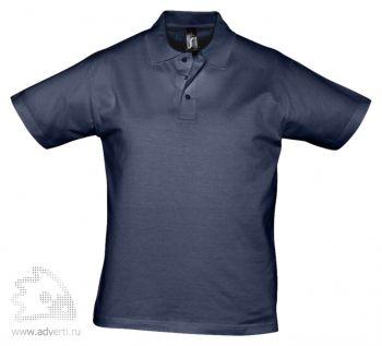 Рубашка поло «Prescott 170», мужская, темно-синяя