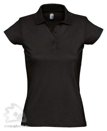 Рубашка поло «Prescott Women 170», женская, черная