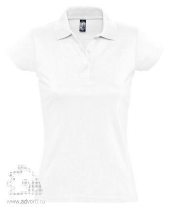 Рубашка поло «Prescott Women 170», женская, белая