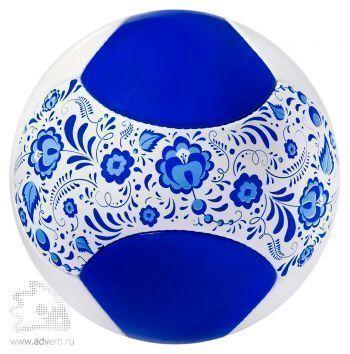 Мяч футбольный «Гжель», голубой