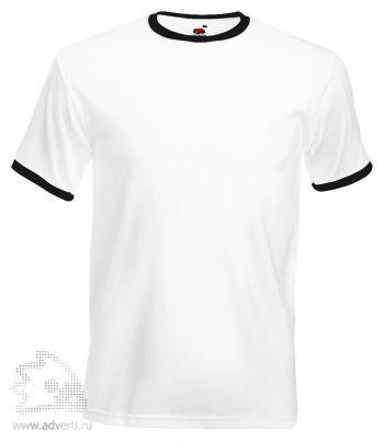 Футболка «Ringer T», мужская, белая с черным