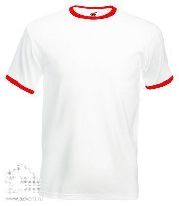 Футболка «Ringer T», мужская, белая с красным