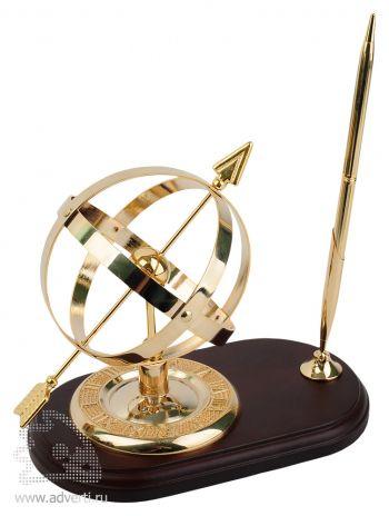 Настольный прибор «Колхида» с солнечными часами и ручкой
