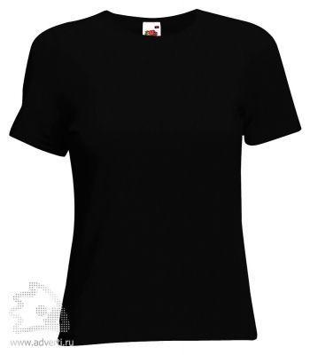 Футболка «Lady-Fit Crew Neck T», женская, черная