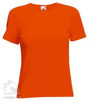 Футболка «Lady-Fit Crew Neck T», женская, оранжевая
