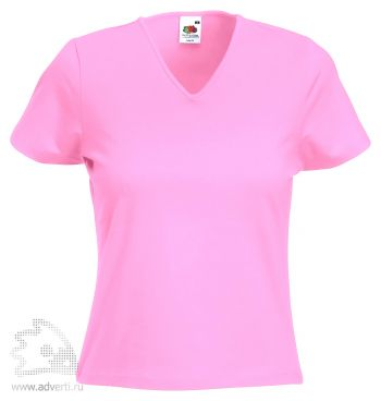 Футболка «Lady-Fit V-Neck T», женская, розовая