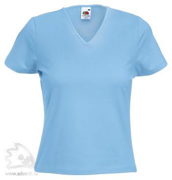 Футболка «Lady-Fit V-Neck T», женская, голубая