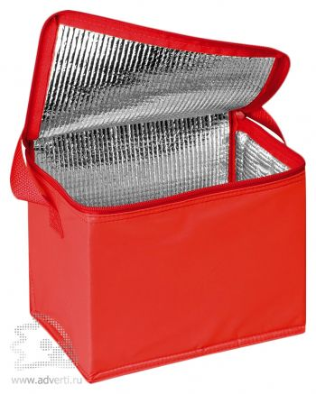 Сумка-холодильник на 6 банок по 0,5 л, красная