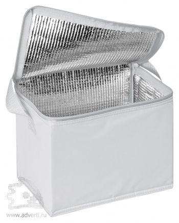 Сумка-холодильник на 6 банок по 0,5 л, белая