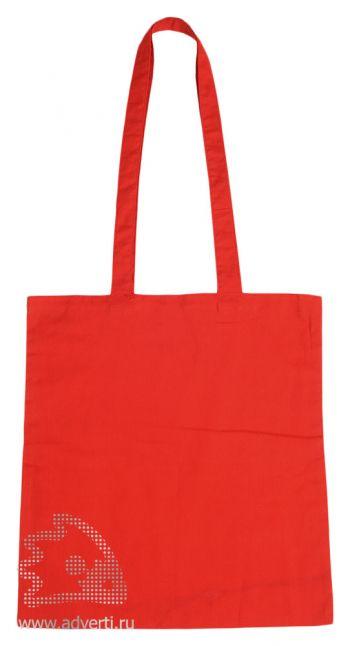 Сумка для шопинга с длинными ручками, красная