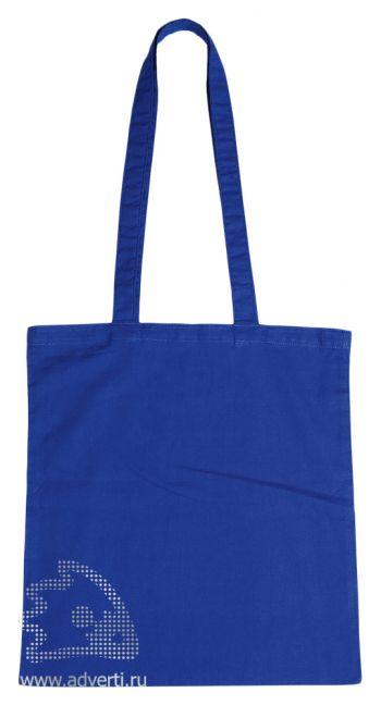 Сумка для шопинга с длинными ручками, синяя