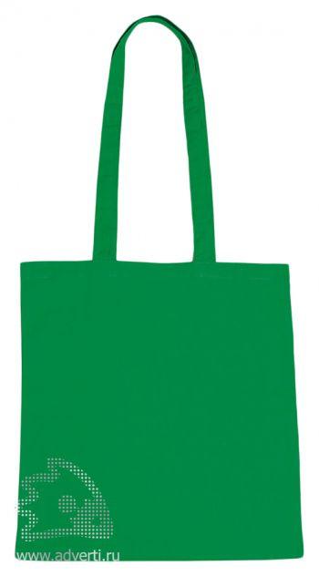 Сумка для шопинга с длинными ручками, зеленая