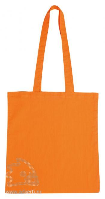 Сумка для шопинга с длинными ручками, оранжевая