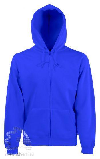 Толстовка Zip Through Hooded Sweat, мужская, Fruit of the Loom, США, светло-синяя
