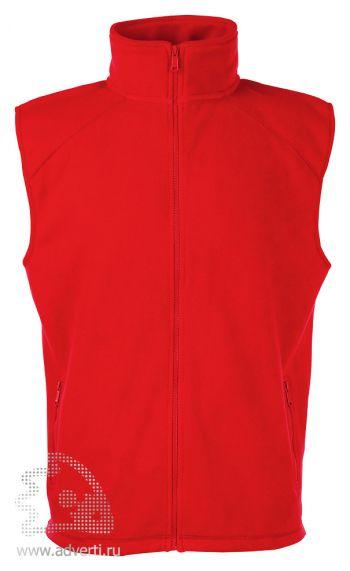 Купить Жилет Sleeveless Fleece, мужской, Fruit of the Loom, США, красный
