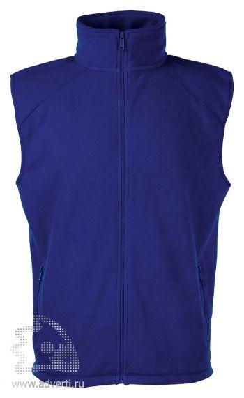 Купить Жилет Sleeveless Fleece, мужской, Fruit of the Loom, США, темно-синий