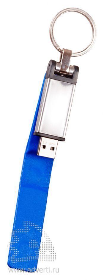 Флешка с магнитной застежкой «Cash», синяя в открытом виде