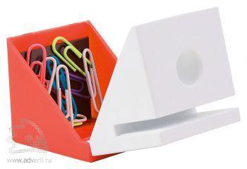 Подставка под ручку, визитки и скрепки «Куб»