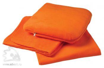 Плед-подушка «Travel», оранжевый