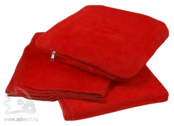 Плед-подушка «Travel», красный
