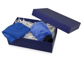 Подарочная коробка «Corners» большая, синяя, пример использования