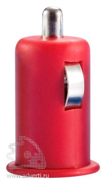 Автомобильное зарядное устройство «Попутчик», красное