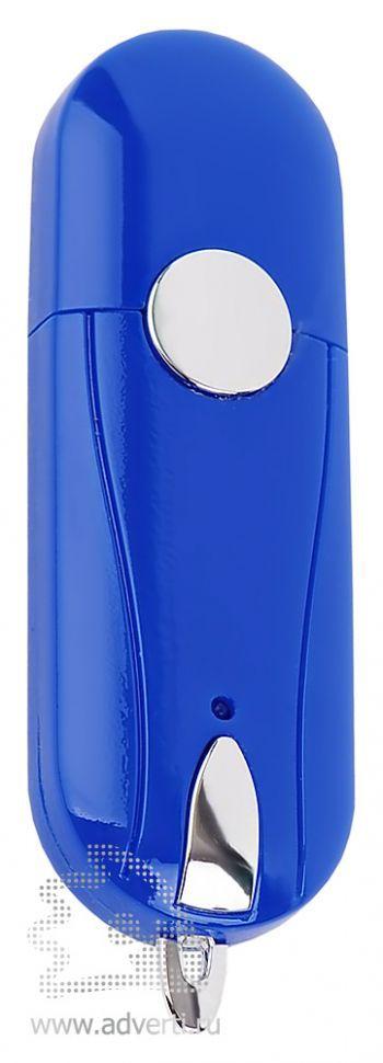 Флешка «Капсула» с кнопкой, синяя