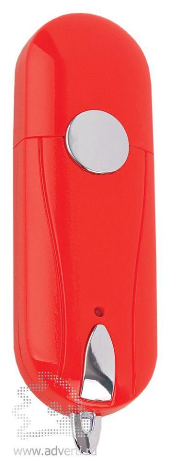 Флешка «Капсула» с кнопкой, красная
