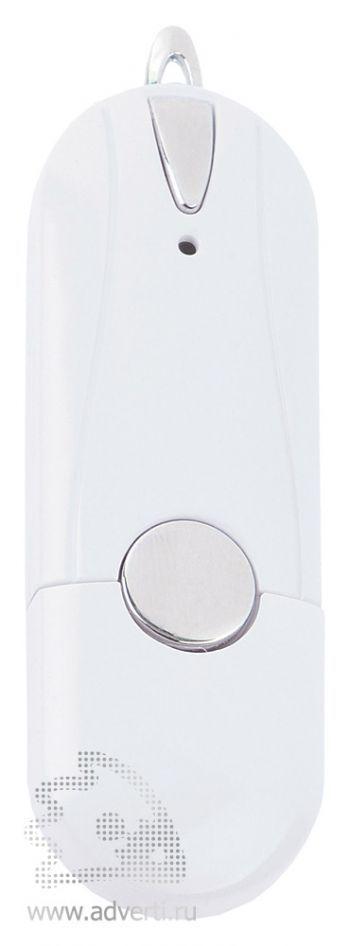 Флешка «Капсула» с кнопкой, белая