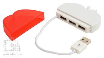 USB Hub на 3 порта «Яблоко», открытый