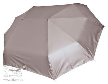 Зонт для двоих складной, механический, 3 сложения, серебристый