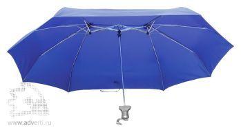 Зонт для двоих складной, механический, 3 сложения, дизайн внутреннего купола