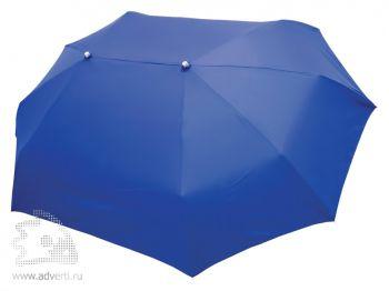 Зонт для двоих складной, механический, 3 сложения, синий
