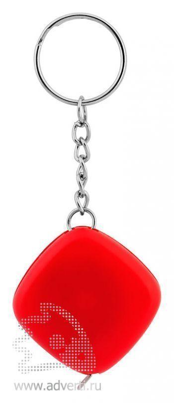Брелок-рулетка «Строитель», красный