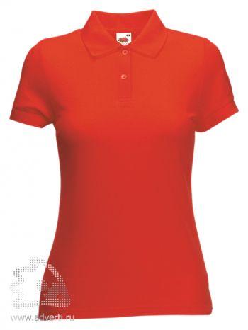 Рубашка поло «Lady-Fit 65/35 Polo», женская, красная