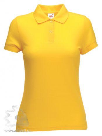 Рубашка поло «Lady-Fit 65/35 Polo», женская, желтая