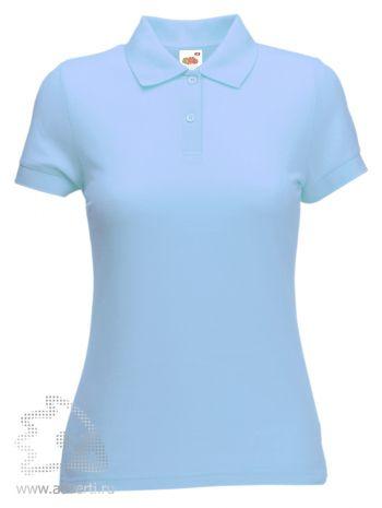 Рубашка поло «Lady-Fit 65/35 Polo», женская, голубая