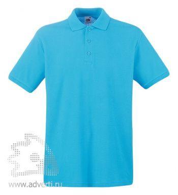 Рубашка поло «Premium Polo», мужская, лазурная