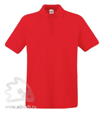 Рубашка поло «Premium Polo», мужская, красная