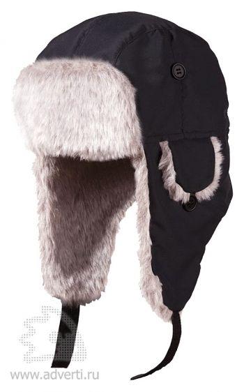 Шапка-ушанка меховая «Unit Winter», черная
