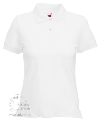 Рубашка поло «Lady-Fit Polo», женская, белая