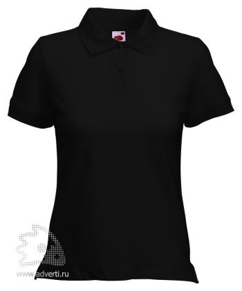 Рубашка поло «Lady-Fit Polo», женская, черная