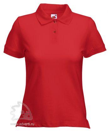 Рубашка поло «Lady-Fit Polo», женская, красная