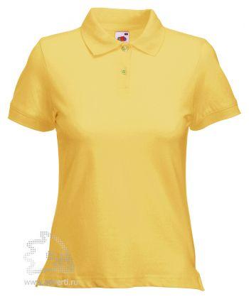 Рубашка поло «Lady-Fit Polo», женская, желтая