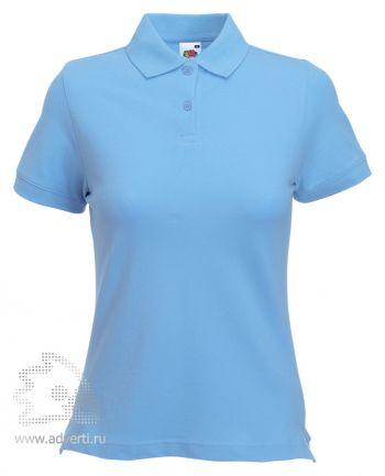 Рубашка поло «Lady-Fit Polo», женская, голубая