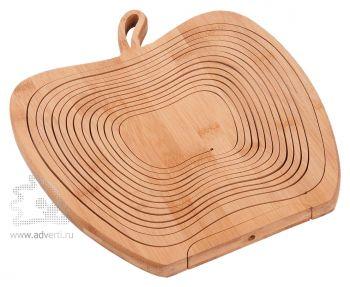 Фруктовница из бамбука «Яблоко», в собранном виде