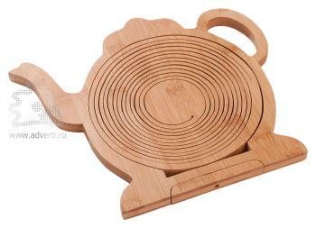 Фруктовница из бамбука «Чайник», в собранном виде