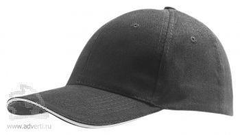 Бейсболка «Buffalo 2», двухцветная, темно-серая со светло-серая