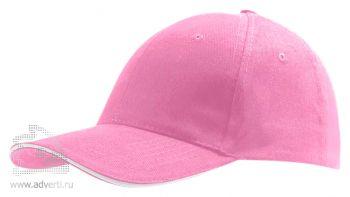 Бейсболка «Buffalo 2», двухцветная, розовая с белым