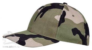 Бейсболка «Buffalo 2», двухцветная, зеленая с темно-зеленым